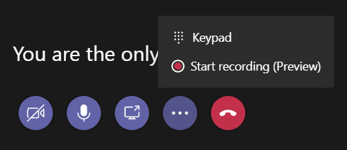 Recording in Microsoft Teams — Lync.se