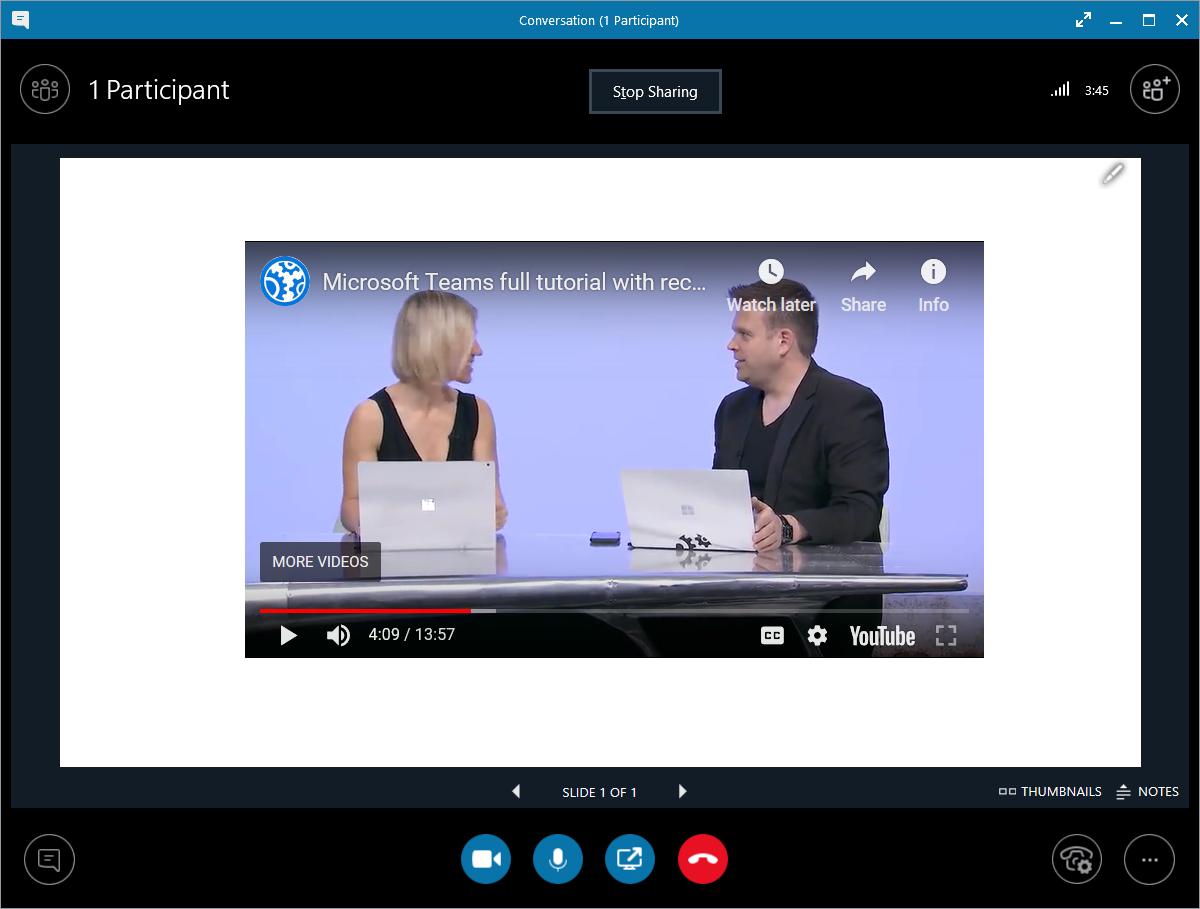 Video clips in meetings — Lync se