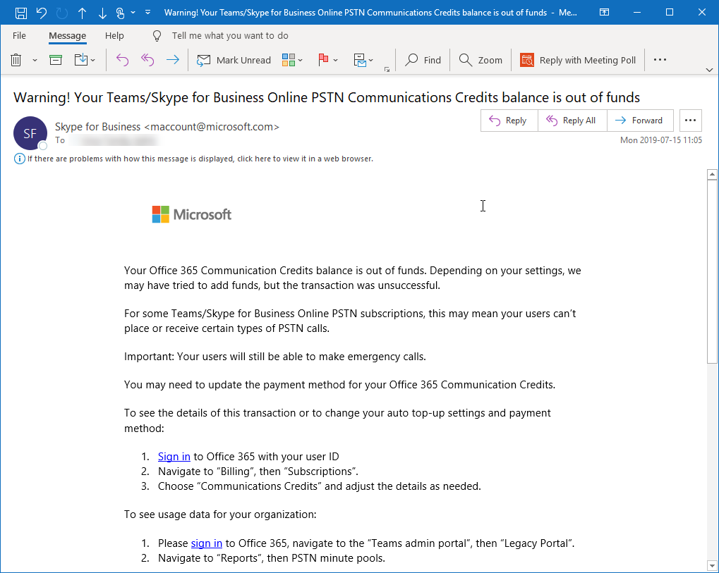 Get a new Conference bridge number for Teams — Lync se