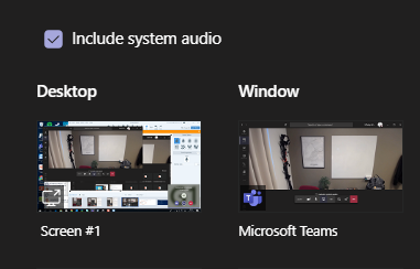 Include system audio in Teams meetings — Lync se